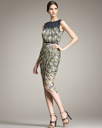 Jason Wu Abstract Floral Sarong Skirt