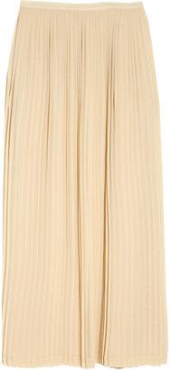 Sandro Jarod pleated chiffon maxi skirt