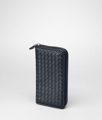 Bottega Veneta Tourmaline intrecciato nappa zip around wallet