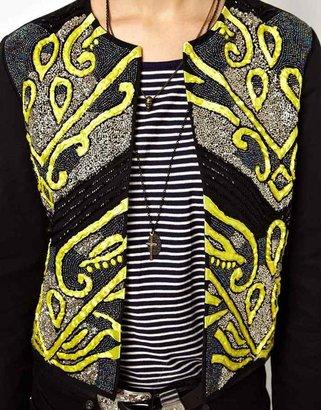 Asos Jacket with Statement Embellished Front