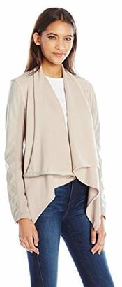 Blank NYC [BLANKNYC] Women's Faux-Leather and Knit Jacket