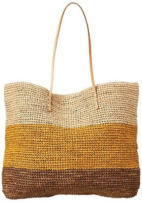 Hat Attack Broad Stripe Tote (Neutral Combo) - Bags and Luggage