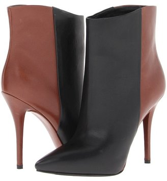 Brian Atwood Djuna (Black/Walnut Brown) - Footwear
