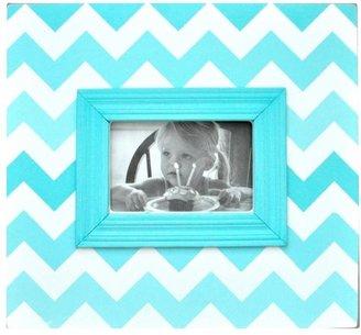 Aqua Ombre Chevron Picture Frame