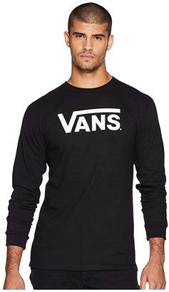 Vans Classic L/S Tee (Athletic Heather/Dress Blues) Men's Long Sleeve Pullover