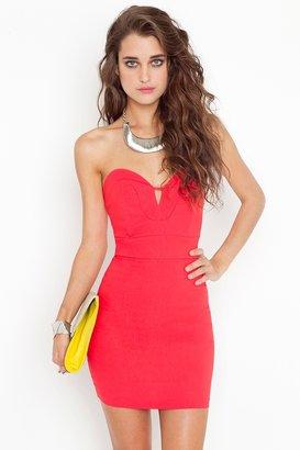 Nasty Gal Serena Sweetheart Dress - Coral