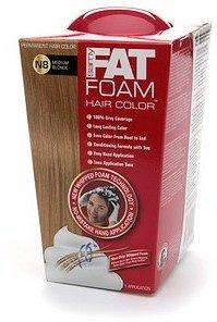 Samy Fat Foam Permanent Hair Color, Light Ash Brown A6