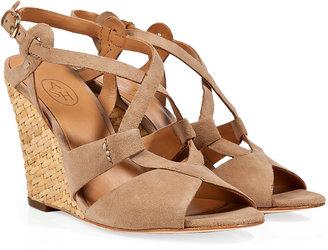 Ash Sand Suede Jade Wedge Sandals