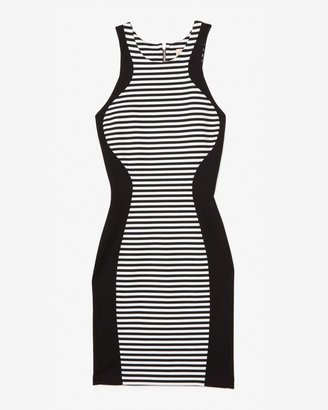Torn By Ronny Kobo Exclusive Contrast Striped Tank Dress