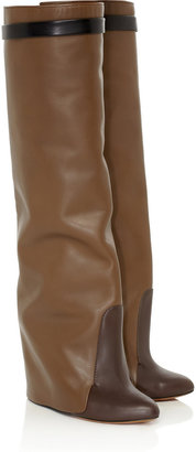 Givenchy Leather knee wedge boots