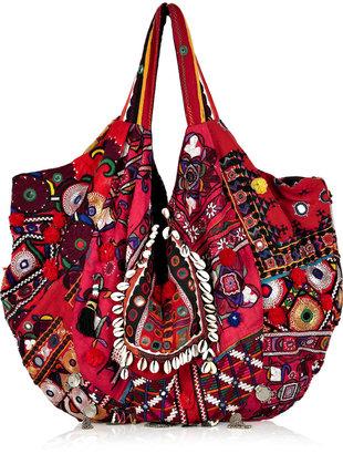 Simone Camille Carryall embellished cotton shoulder bag