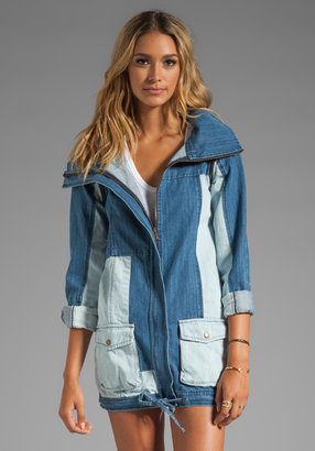One Teaspoon Patchwork Crest Duffle Jacket