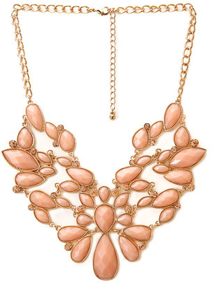 Forever 21 Regal Faux Stone Bib Necklace