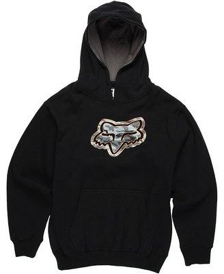 Fox Concealed Pullover Fleece (Little Kids/Big Kids) (Black) - Apparel