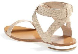 BCBGMAXAZRIA 'Brannon' Croc Embossed Flat Sandal