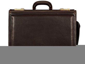 Maxwell Scott Bags Maxwell Scott Timeless Italian Leather Pilots Case - Varese Brown