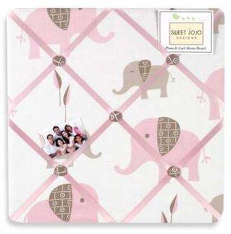 Sweet Jojo Designs Mod Elephant Fabric Memo Board in Pink/Taupe