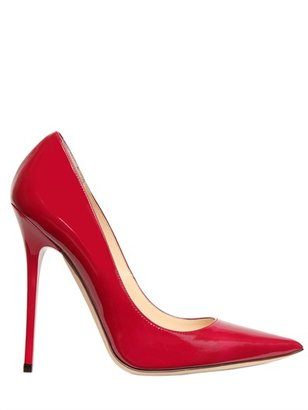 Jimmy Choo 120mm Anouk Patent Pointed Pumps