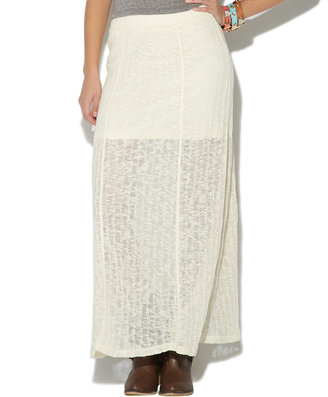 Wet Seal Sweater Knit Maxi Skirt