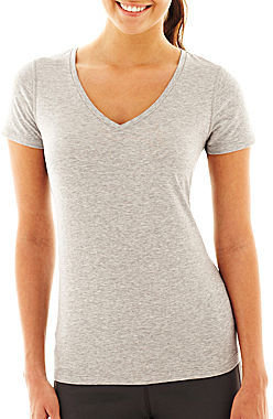 JCPenney Xersion Stretch V-Neck Tee