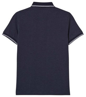 Mayoral Navy Spot Jacquard Polo Shirt