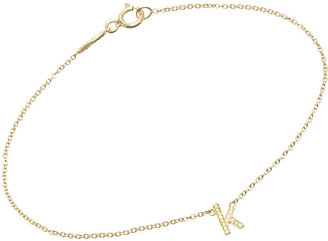 Jennifer Meyer Women's Initial Charm Bracelet $995 thestylecure.com