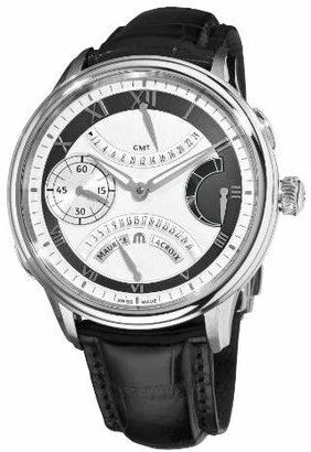 Maurice Lacroix Men's 'Masterpiece' Mechanical Hand Wind Stainless Steel and Leather Casual Watch