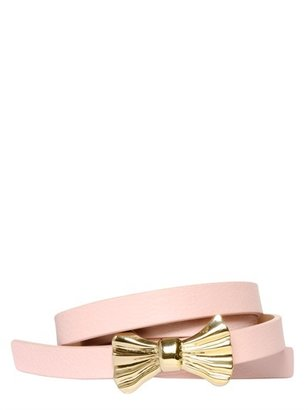 RED Valentino 10mm Metal Bow Leather Belt