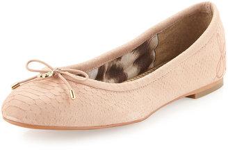 Sam Edelman Felicia Snake-Print Ballet Flat, Spanish Rose