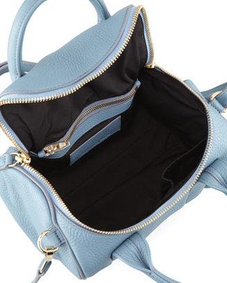 Alexander Wang Rockie Small Crossbody Satchel Bag, Mercury Light Blue/Yellow Golden