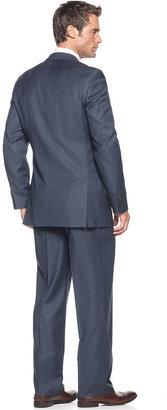 Lauren Ralph Lauren Lauren by Ralph Lauren Suit, Navy Glen Plaid Big and Tall