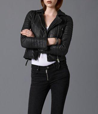 AllSaints Pitch Leather Biker Jacket