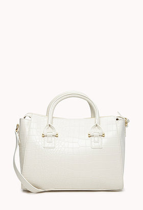 Forever 21 Glam Faux Croc Crossbody