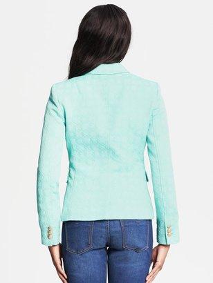 Banana Republic Textured Turquoise Blazer