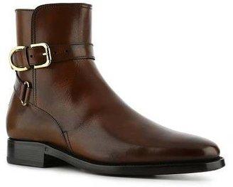 Ralph Lauren Macon Burnished Leather Buckle Boot