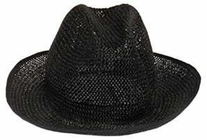 Maison Margiela Maison Woven Black Hat