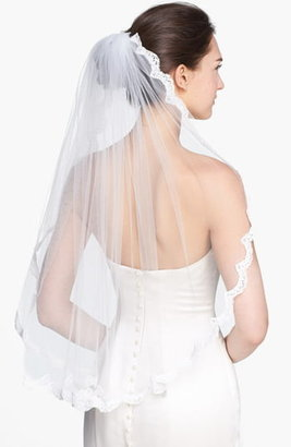WEDDING BELLES NEW YORK 'Lola' Lace Border Veil