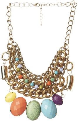 Arden B Multi Color Oversized Stone Necklace