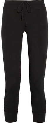 Splendid Cotton slub-jersey track pants