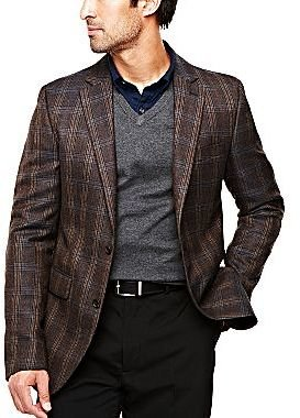 JCPenney Stafford® Lambswool-Rich Slim-Fit Sport Coat