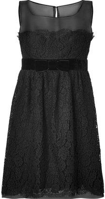 Anna Sui Black Botanic Lace Dress