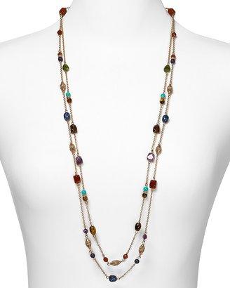 """Lauren Ralph Lauren Color Bazaar Two Row Beaded Necklace, 36"""""""
