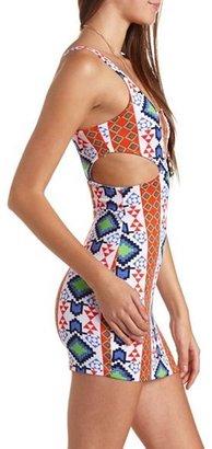 Charlotte Russe Cutout Scuba Body-Con Dress