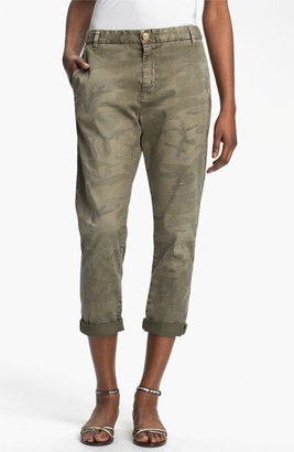 Current/Elliott 'The Buddy' Print Twill Trousers Womens Army Camo Size 28 28
