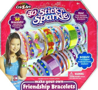 CRa Z-Art Z Art 3D Stick N Sparkle Make Your Own Friendship Bracelet Kit