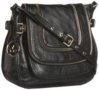 MICHAEL Michael Kors Naomi Large Shoulder Flap (Black) - Bags and Luggage