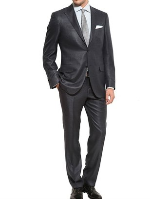 Canali Open Weave Wool Silk Suit