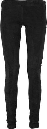 Mason by Michelle Mason Stretch-suede leggings