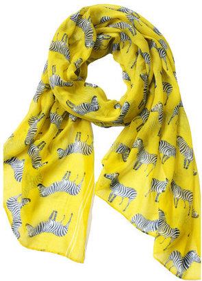Happy Scarf Zebra Crossing Yellow