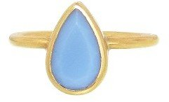 Annette Ferdinandsen Pear Shaped Blue Opal RIng - 18 Karat Yellow Gold